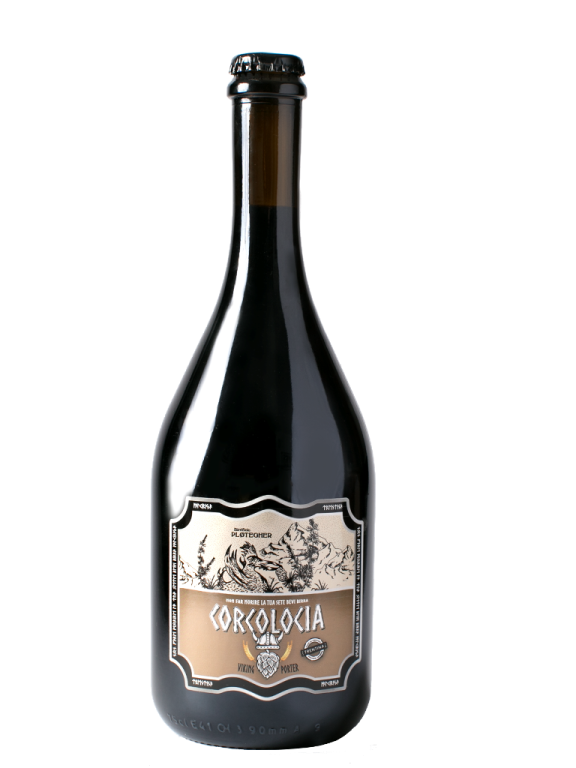 Birra artigianale Corcolocia trentina, bottiglia da 75 cl